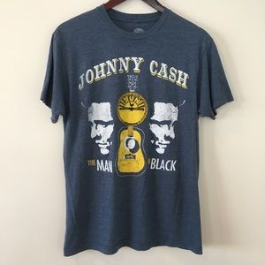 Johnny Cash Men's Band T-shirt The Man In Black